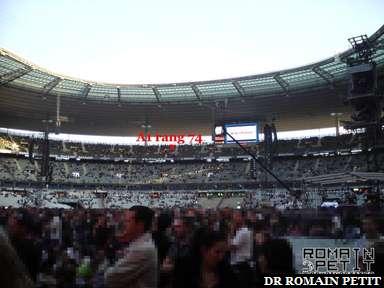 Stade de France le 12 septembre 2009 vu de la pelouse or ouest