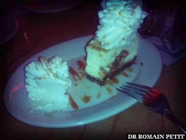White chocolate caramel macadamia nuts cheesecake