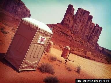 Les toilettes de Monument Valley