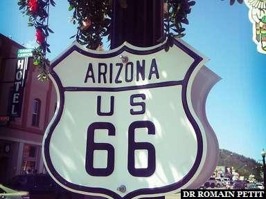 Panneau Route 66 à Williams, Arizona