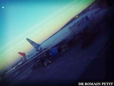 Notre avion du retour à l'aéroport SFO