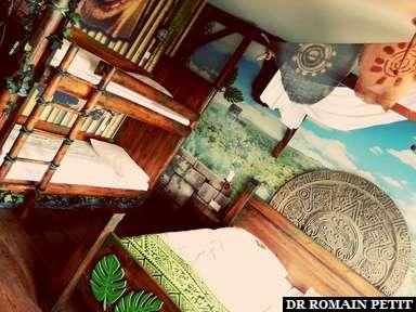 Chambre jungle à l'hôtel de Heide Park