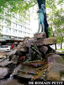 Sculpture de Ole Bull, violoniste norvégien originaire de Bergen