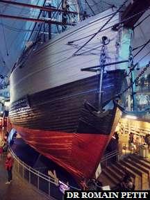 Fram, bateau d'expédition polaire, au Musée du Fram (Frammuseet).