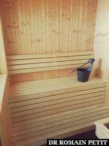 Sauna privatif dans la chambre d'hôtel à Göteborg.