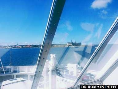 De retour au Danemark par ferry, Kroneborg Castle (Helsingør) à tribord.
