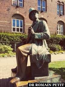 Statue de Hans Christian Andersen à Copenhague.