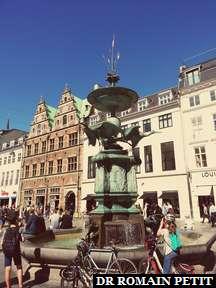 Fontaine Stork à Copenhague.