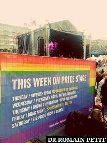 Concerts lors de la semaine de la gay pride à Copenhague.