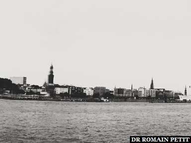 Panoramique d'Hambourg.