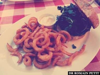 Hamburger à Hambourg.