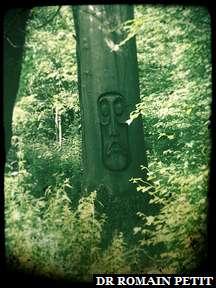Sculpture sur bois du Moaï