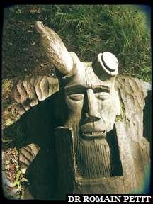 Sculpture sur bois du Pan