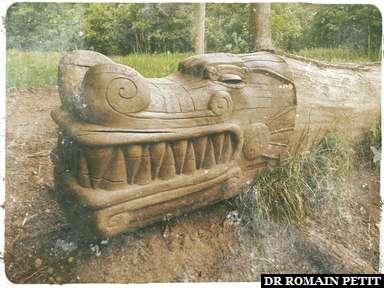 Sculpture sur bois du Dragon
