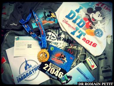 Eventail des objets du Semi-Marathon Disneyland Paris - Val d'Europe