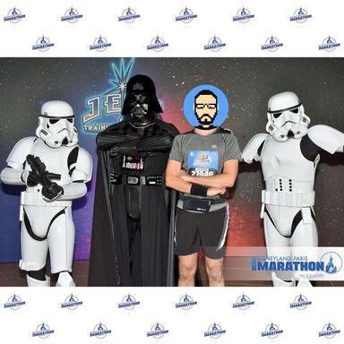 Rencontre avec Darth Vader et 2 Stormtroopers