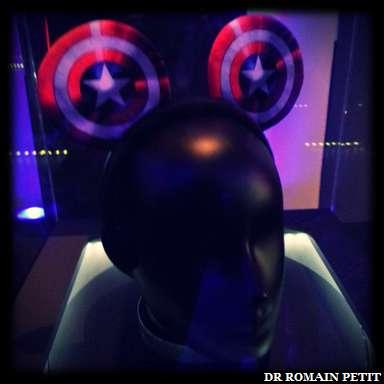 Oreilles de Mickey version Captain America