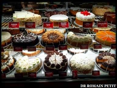 Le choix de cheesecakes est vaste