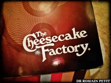 Page de couverture de la carte de The Cheesecake Factory