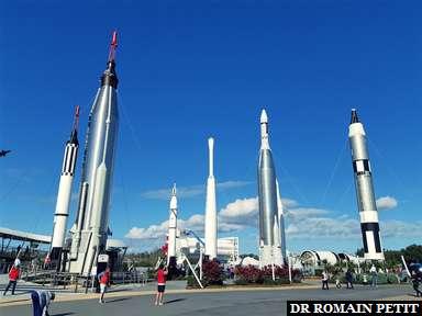 Exposition de fusées au Kennedy Space Center