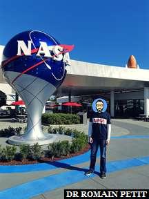 Photo souvenir au Kennedy Space Center