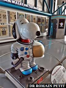 Snoopy ambassadeur des missions spaciales au Kennedy Space Center