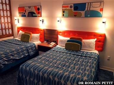 Lits de notre chambre de l'hôtel Universal's Cabana Bay Beach Resort