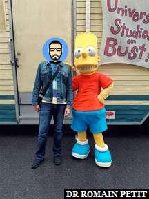 Rencontre avec Bart Simpson à Universal Studios Florida