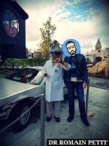 Rencontre avec Emmett Brown (Retour vers le futur) à Universal Studios Florida