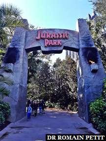 Entrée du land Jurassic Park à Universal's Islands of Adventure