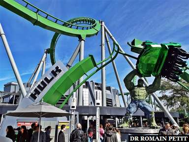 Attraction The Incredible Hulk Coaster à Universal's Islands of Adventure