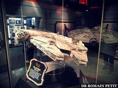 Maquette du Faucon Millenium à Disney's Hollywood Studios