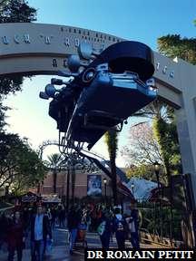Entrée de l'attraction Rock 'n' Roller Coaster starring Aerosmith à Disney's Hollywood Studios