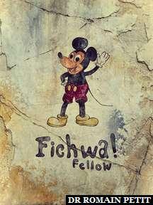 Dessin de Mickey Mouse sur un mur de Disney's Animal Kingdom