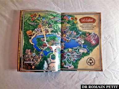 Carte des lieux à visiter pour remplir le manuel Wilderness Explorers inspiré par le film Disney Pixar Là-Haut