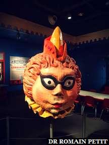 Tête géante au musée The Ringling à Sarasota