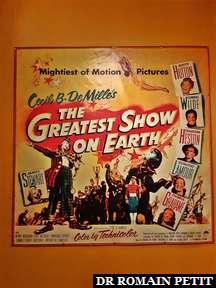 Affiche du film The Greatest Show on Earth de Cecil B. DeMille au musée The Ringling à Sarasota