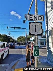 Fin de la route 1 à Key West