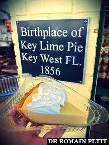 Part de Key Lime Pie fabriqué par la boutique où ce gâteau a été inventé en 1856, à Key West