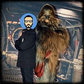 Rencontre avec Chewbacca près de Starport