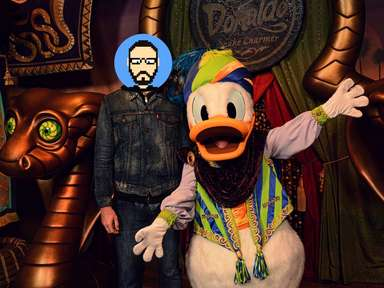 Rencontre avec Donald magicien à Magic Kingdom Park