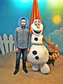 Rencontre avec Olaf (La Reine des Neiges) à Disney's Hollywood Studios
